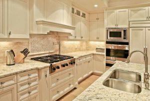 Grainte Countertops In Kitchen