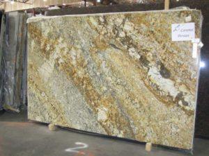 Large granite slab standing up.